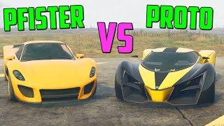 PFISTER 811 vs PROTO ??EL COCHE MAS RAPIDO!! - GTA V ONLINE