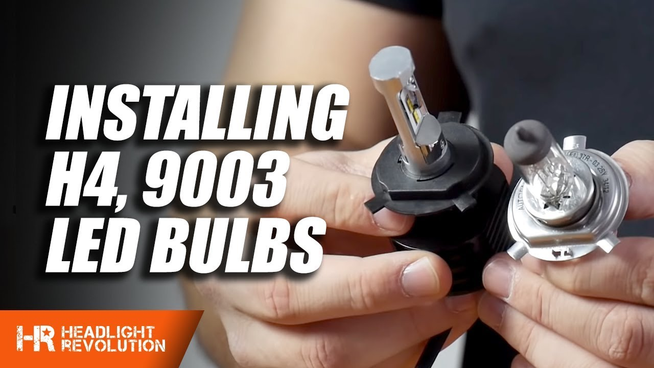 how to install any led h4 or 9003 headlight bulb tips and tricks  [ 1280 x 720 Pixel ]