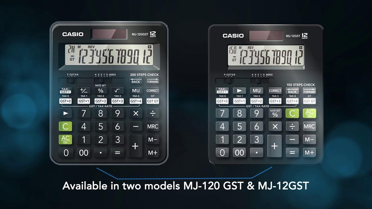 Casio MJ-12GST   GST Calculator