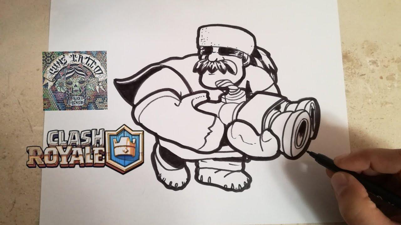 Como Dibujar Al Cazador Clash Royale How To Draw Hunter Clash Royale