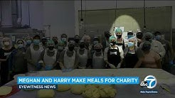 Meghan Markle, Prince Harry lend a helping hand at Homeboy Industries near downtown LA