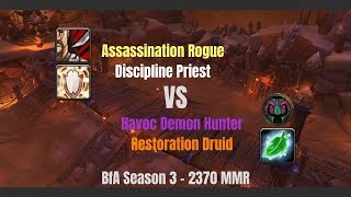 Assassination Rogue PvP 8.2.5 - Demon Hunter blood and Druid tears