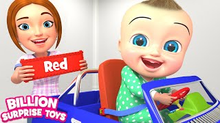 Colorful Toy Cars Song | Kids Songs | Billion Surprise Toys