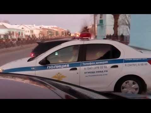 ИДПС Учалы  инспектор Салимов опять в своём репетуаре .