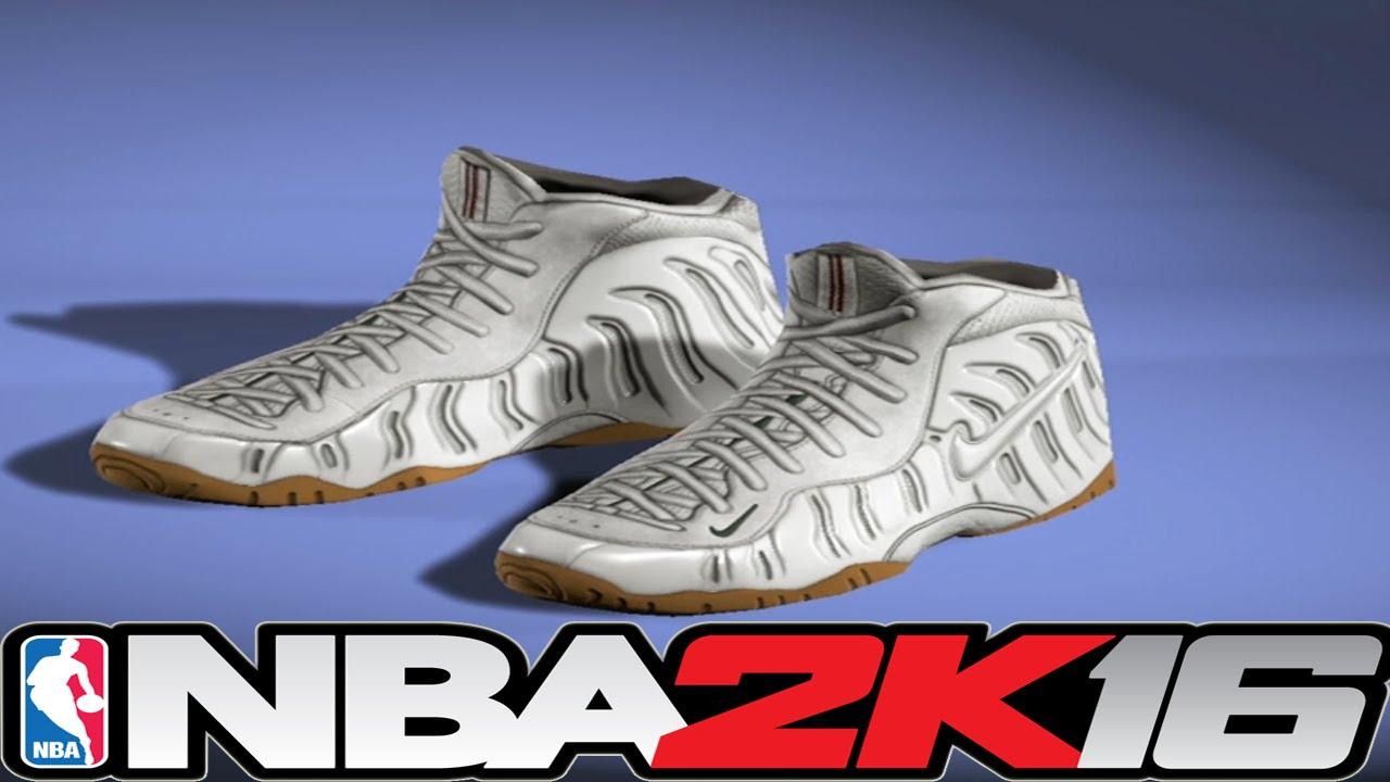 purchase cheap d9aae 909bd NBA 2K16 Shoe Creator Foamposite Pro White Gucci ⋆ NBA2K16⋆ - YouTube