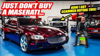 Jimbo's Maserati Almost Became a SALVAGE CAR Right Before He Got It! *USED CAR DEALER SCAM*