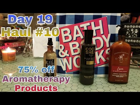 Mini Bath & Body Works 75% off Aromatherapy Products|Beauty on a Budget Haul #72