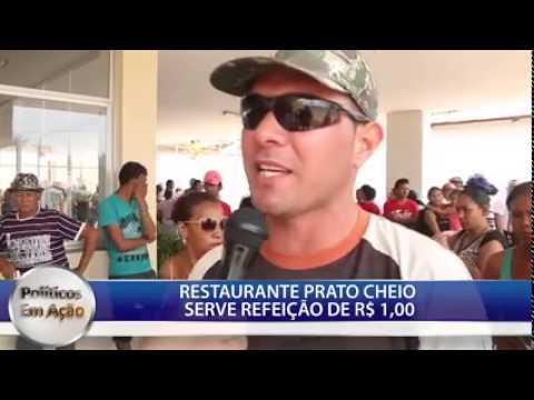 RESTAURANTE PRATO CHEIO SERVE REFEIÇÃO DE R$ 1,00