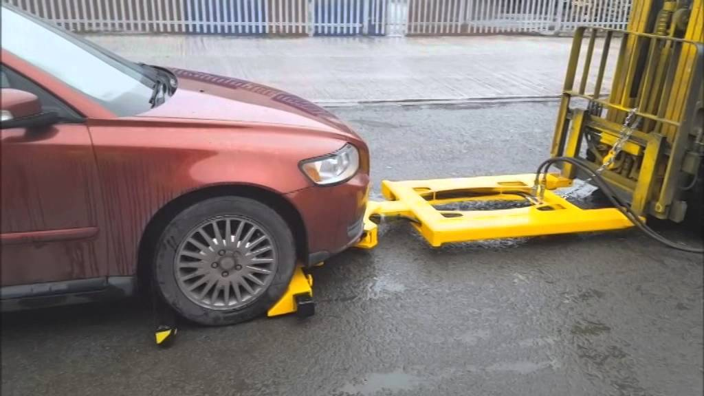 Hydraulic Forklift Car Mover Attachment