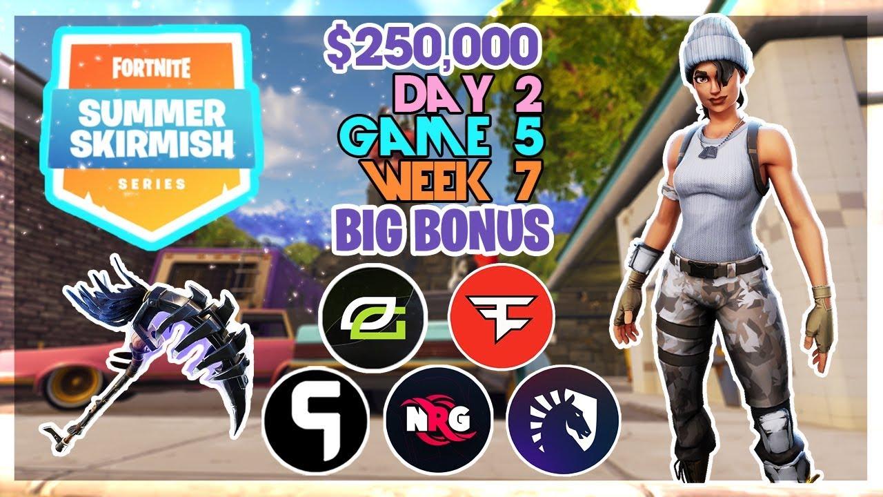 250 000 Big Bonus Summer Skirmish Week 7 Day 2 Game 5 Fortnite