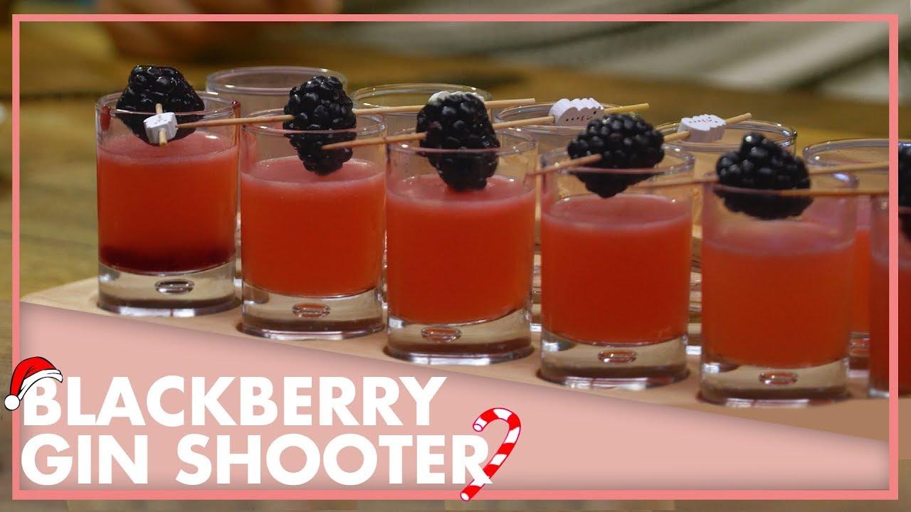 Blackberry Gin Shooter (Cin ile Yapılan Shot Tarifi)