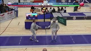 FE 2018 T08 01 M S Individual Yerevan ARM U23 European Championships BLUE DANILENKO RUS vs YILDIRIM