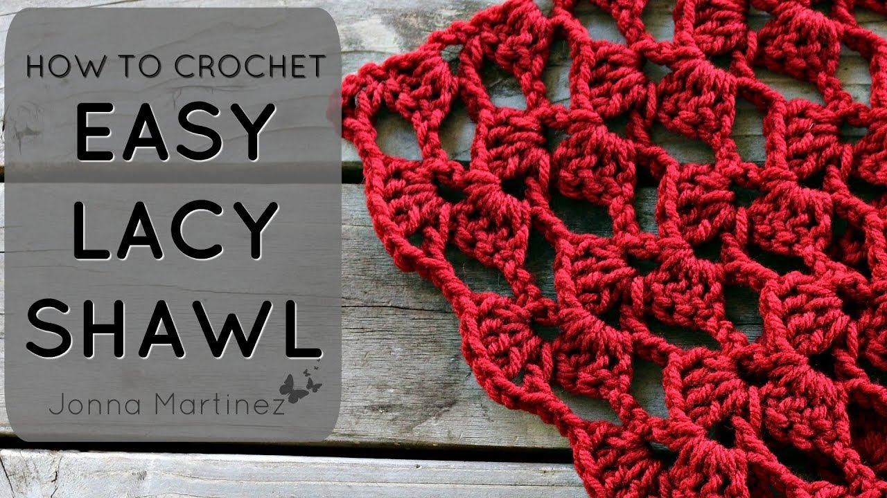 How To Crochet A Romantic Lacy Shawl Youtube