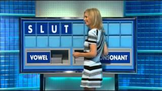 Rachel Riley Countdown Slut Word Oops! 3/8/15