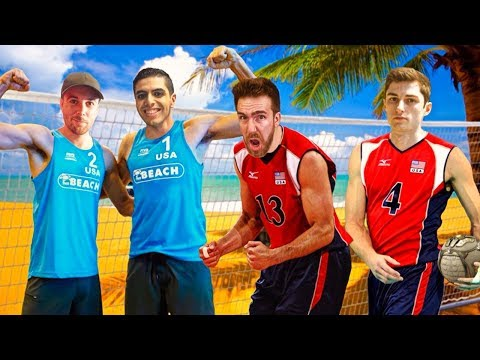 THE ROCKET LEAGUE PRO'S JOIN US FOR SOME MODDED VOLLEYBALL!