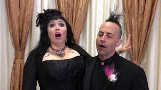 Very fun couple gives their testimonial about our wedding chapel.