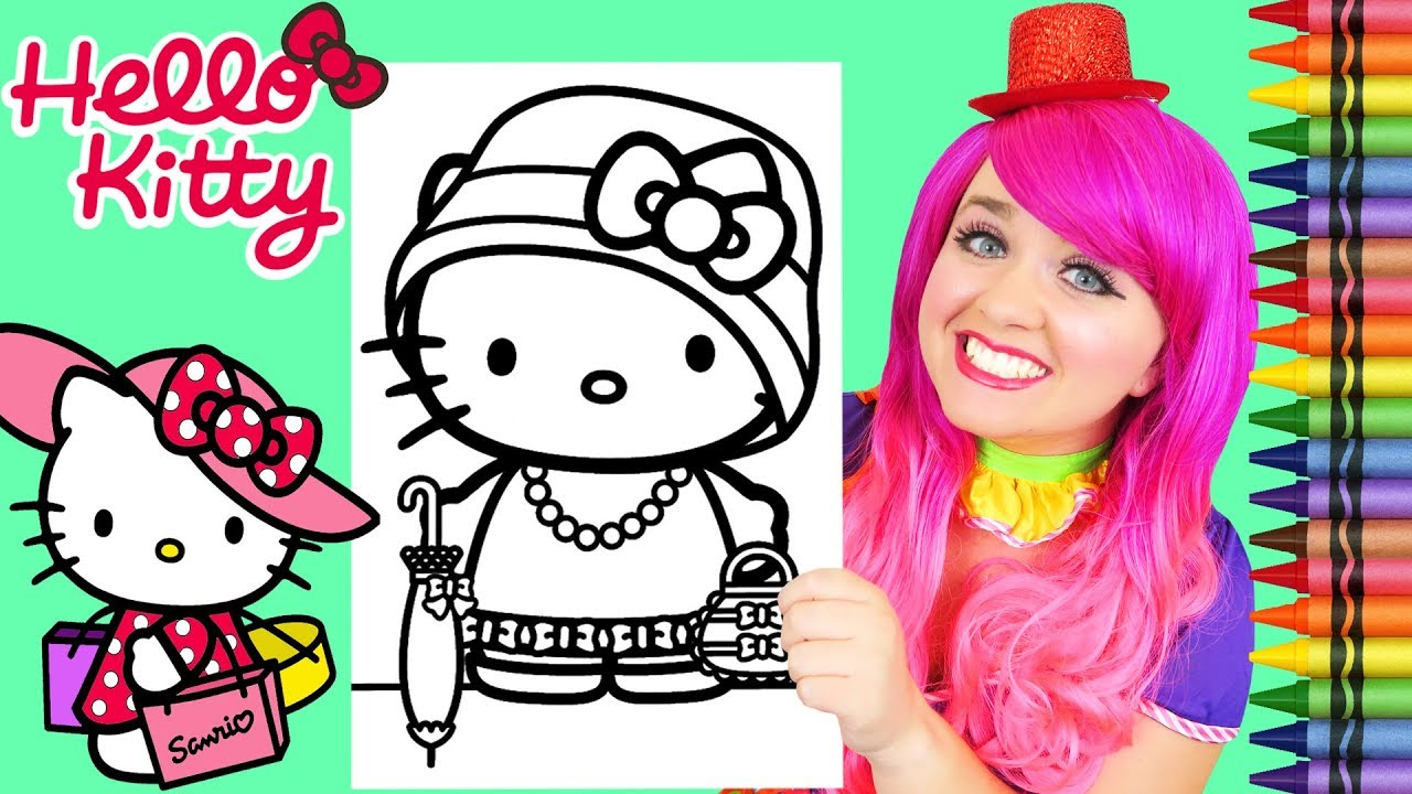 Giant Coloring Pages Hello Kitty Art Craft Color Coloring Fun