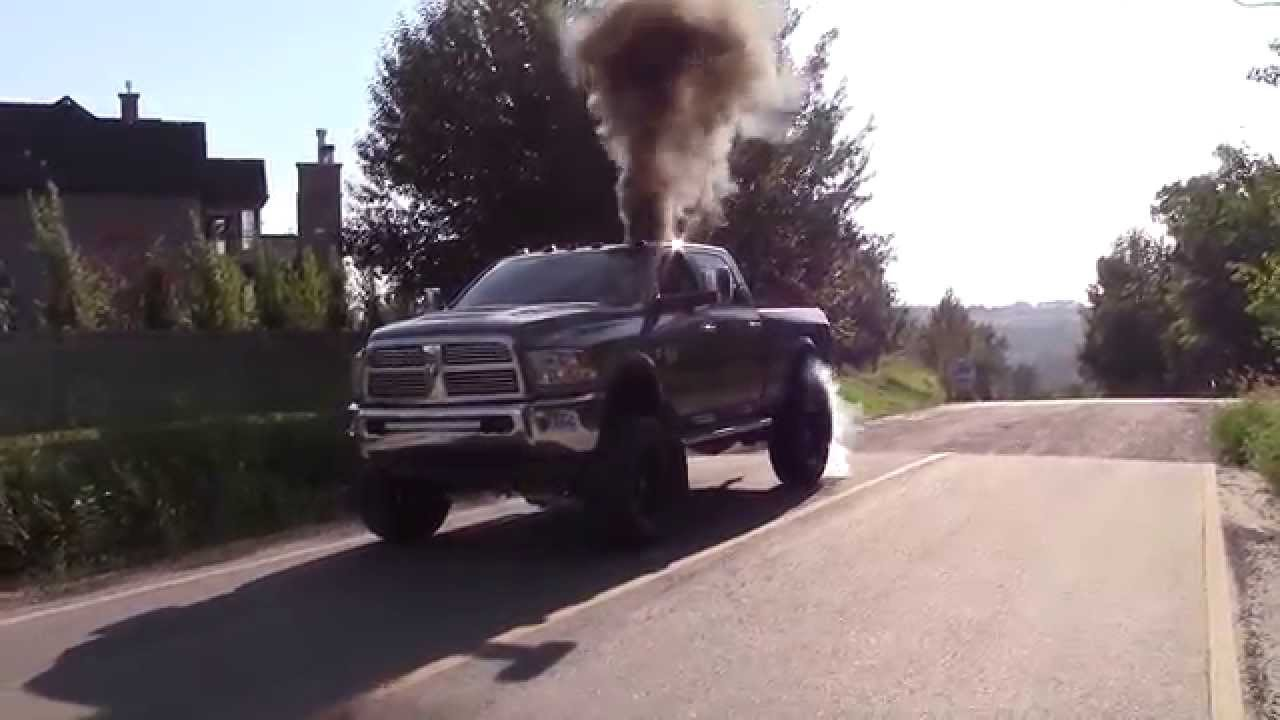 600hp Lifted 6 7 Cummins Burnout Youtube