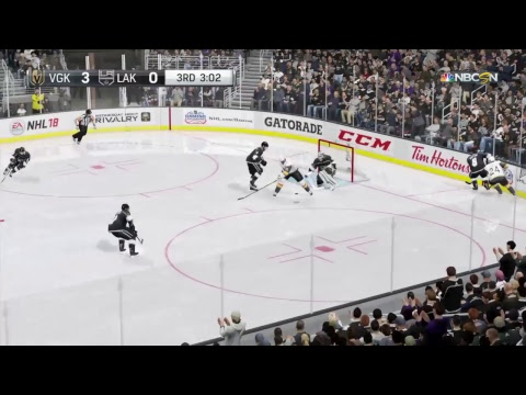 NHL 18 , Stanley Cup playoffs, Vegas at L.A. Kings, Game #4,  PS4