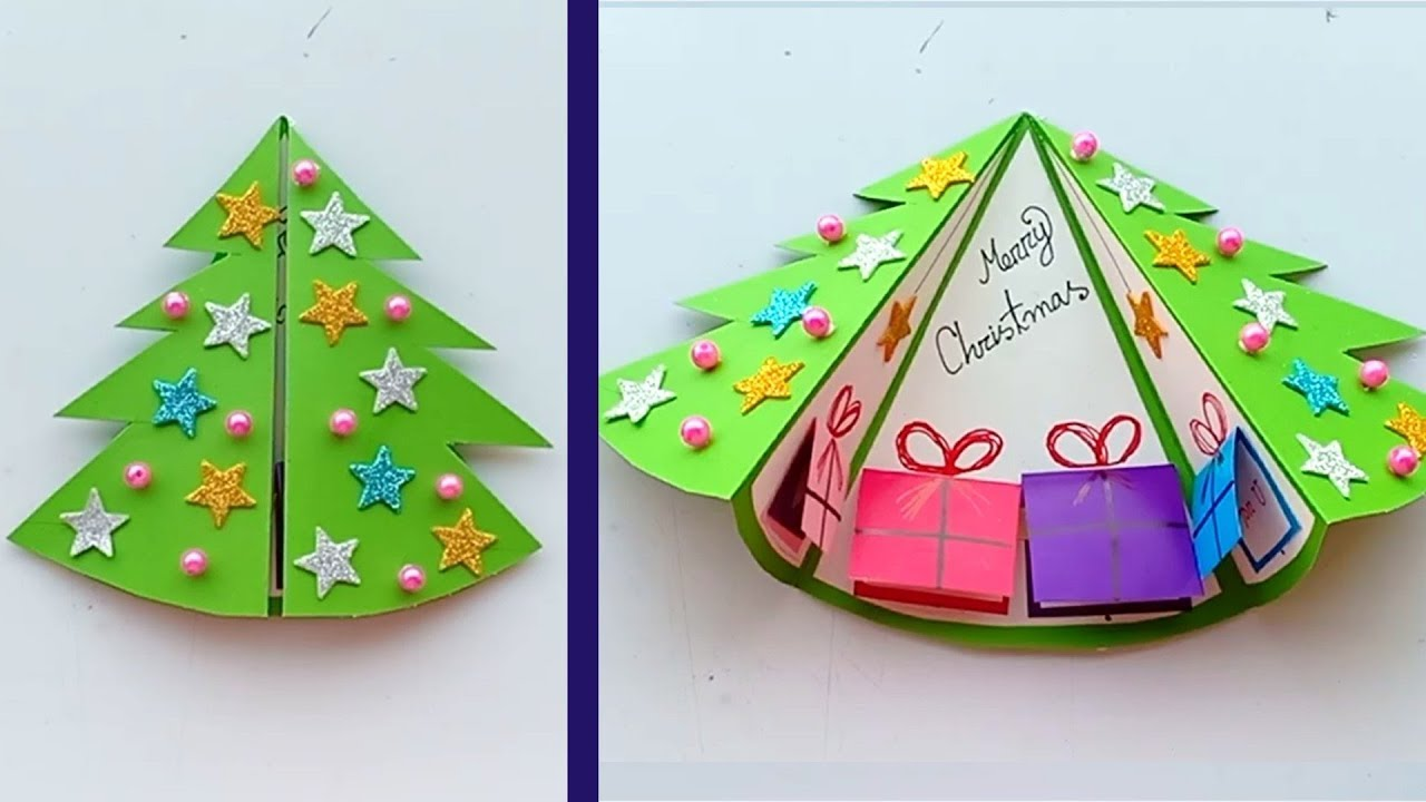 DIY Christmas cards/Handmade Christmas Greeting cards/How to make Santa  Greeting Card/Christmas Card