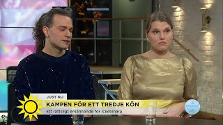 Nytt förslag att utreda införandet av ett tredje kön - Nyhetsmorgon (TV4)