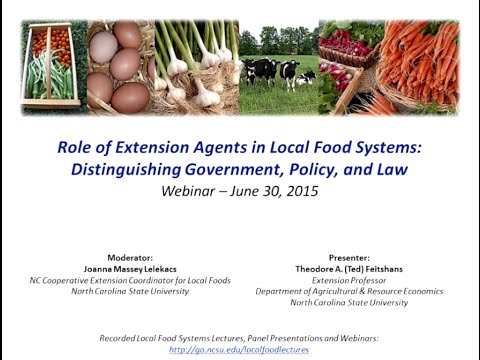 Local Food Systems: Distinguishing Government, Policy, & Law
