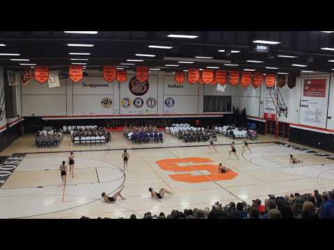 """Sunset Sunflares Varsity """"Take Me Home"""" at Scappoose High School 18Nov2017"""
