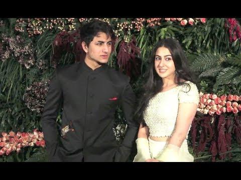 Sara Ali Khan And Ibrahim Ali Khan Together At Virat Anushka Reception