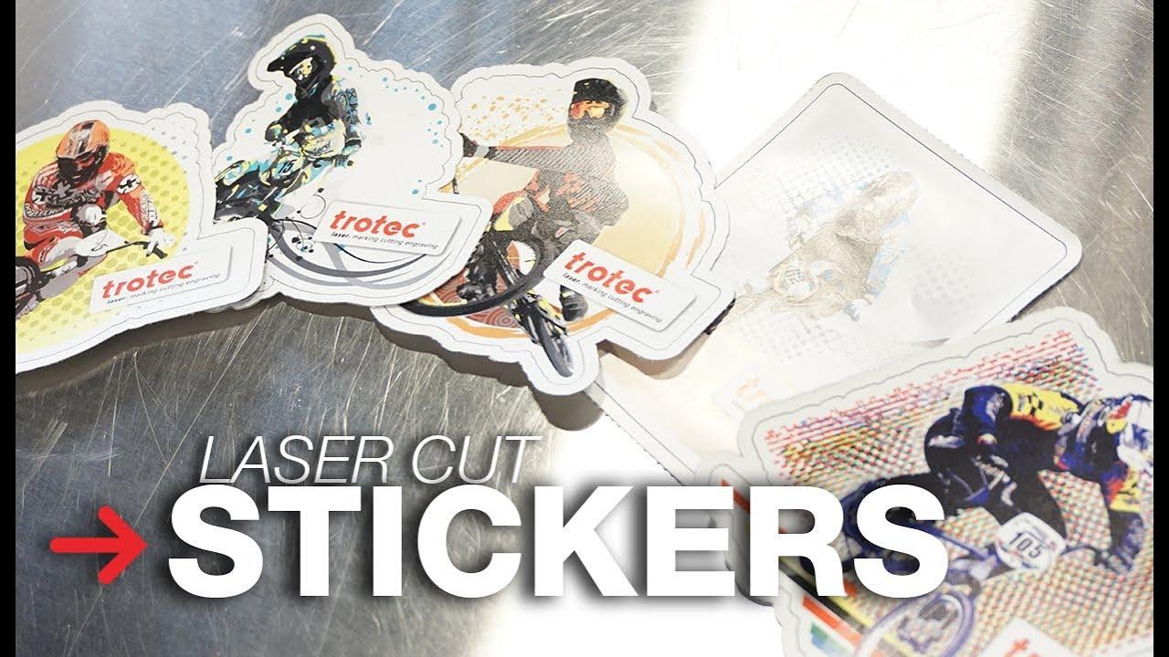 Laser cut stickers uv printed stickers diy stickers