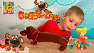 Собака Ду игра для детей! Cобираем собачьи какашки Doggie Doo family fun game Pooping Dog