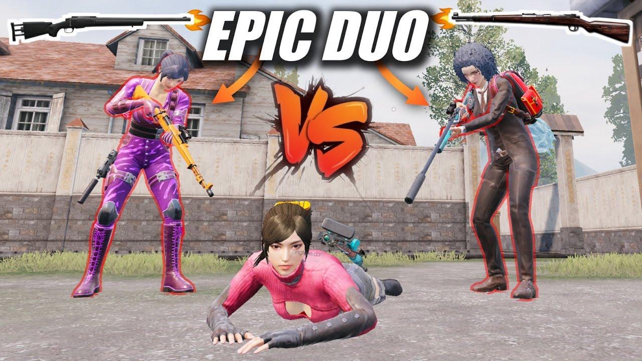 Pro Duo Challenge Me For 1v2 TDM Match 🔥   M24+Kar98 Sniper Only Match   PUBG MOBILE
