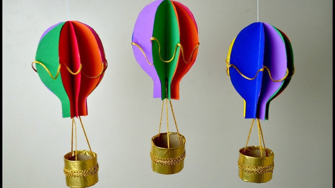 How To Make Hot Air Balloon Craft