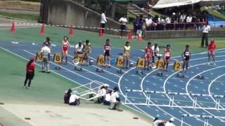 2017 茨城県中学総体陸上 女子100mH決勝
