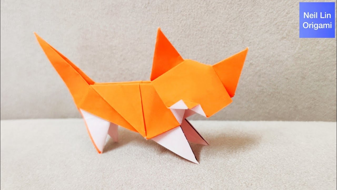 Awesome origami cat | How to make a paper cat | Origami cat easy ... | 720x1280
