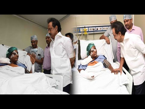 dmk working president M. K. Stalin meets Lavanya @ Hospital |STV
