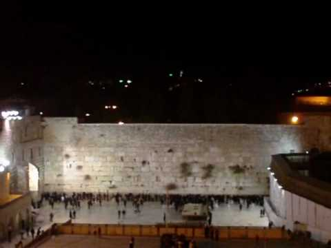 New Year's Eve at the Western Wall in Jerusalem! Hello 2010