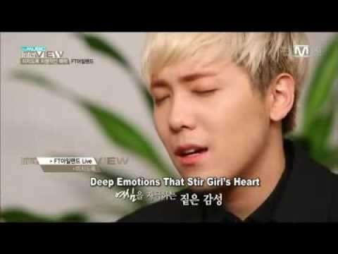 FT Island - Madly (미치도록) Cut in The Music Interview (live acoustic band)