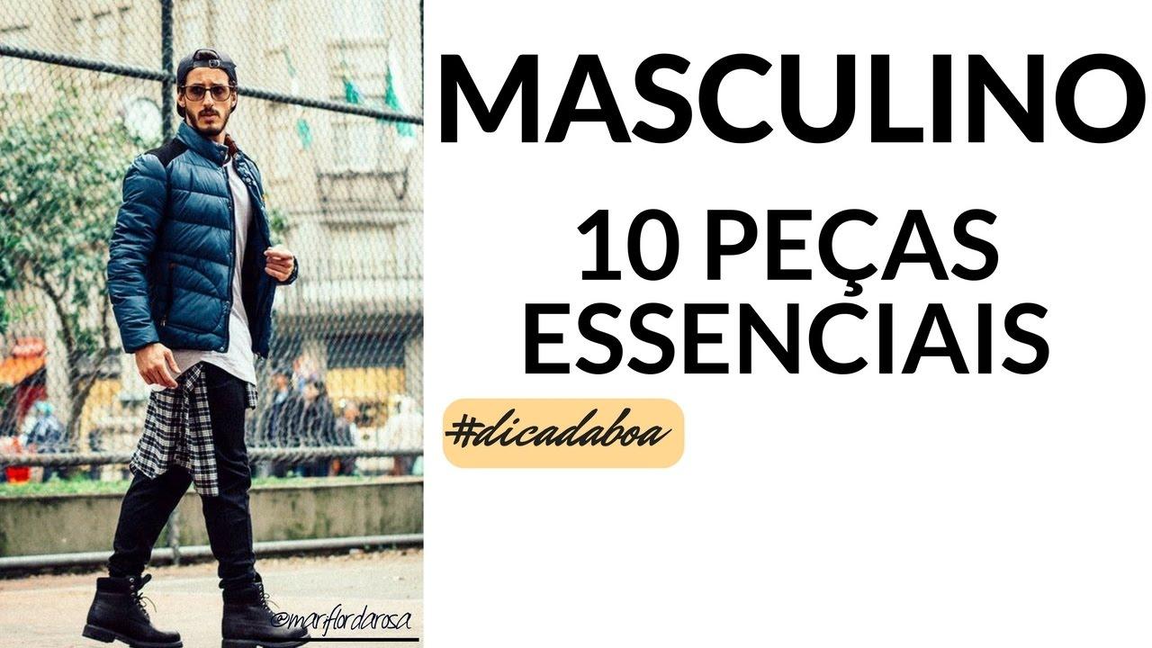10 PEÇAS ESSENCIAIS DO ARMÁRIO MASCULINO - YouTube b1b1507b506