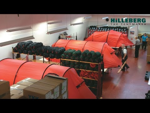 A quick tour of Hilleberg's tent factory