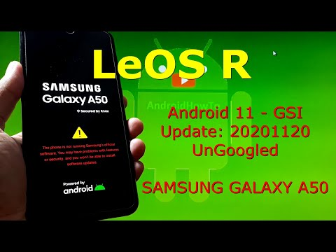 LeOS Android 11 UnGoogled for Samsung Galaxy A50 Update:20201120