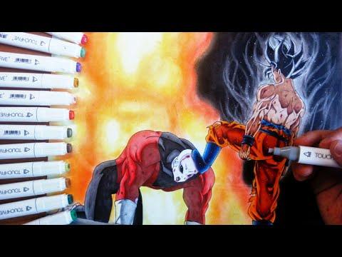 DISEGNO Goku ultra instinct/limit breaker VS Jiren SPEED DRAWING