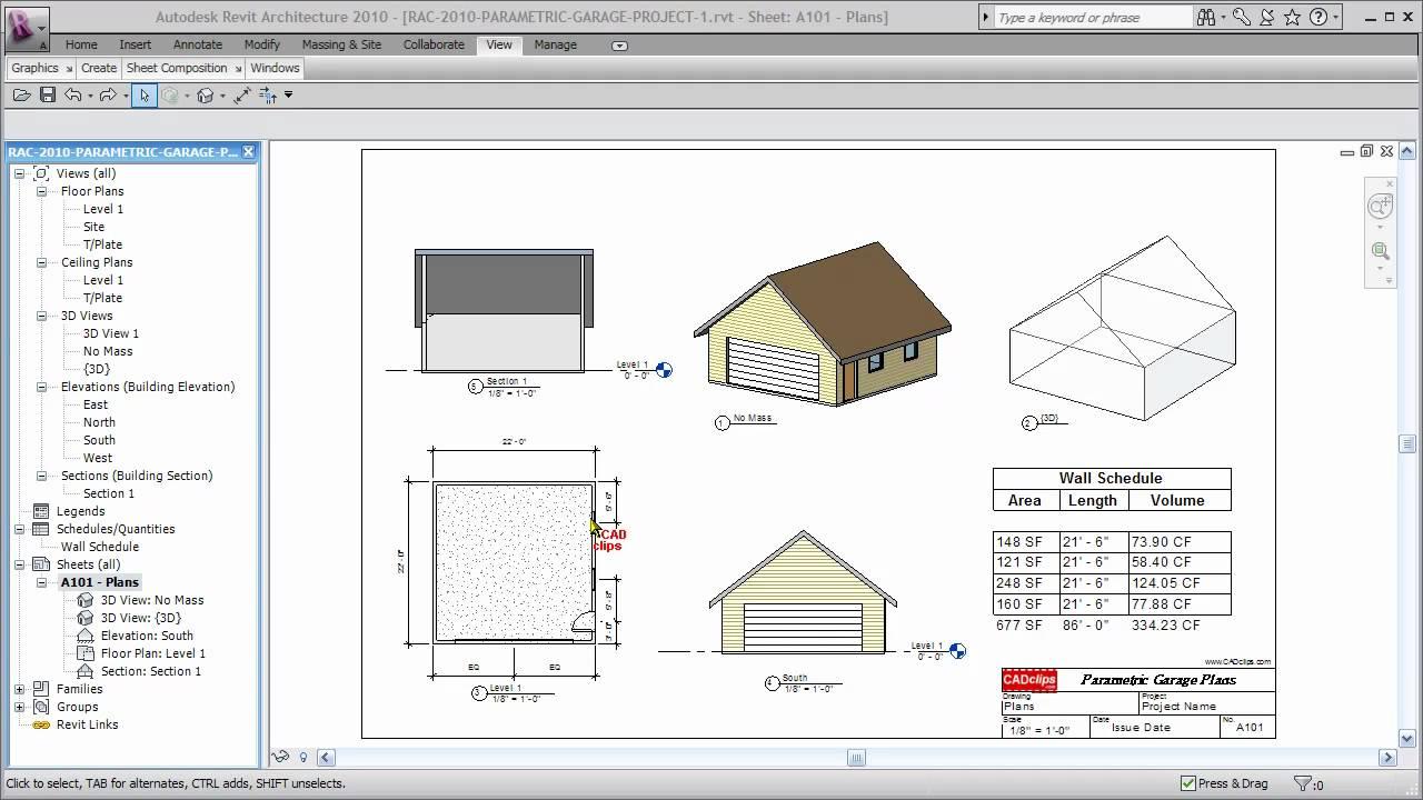REVIT Parametric Garage Magic - CADclip - YouTube