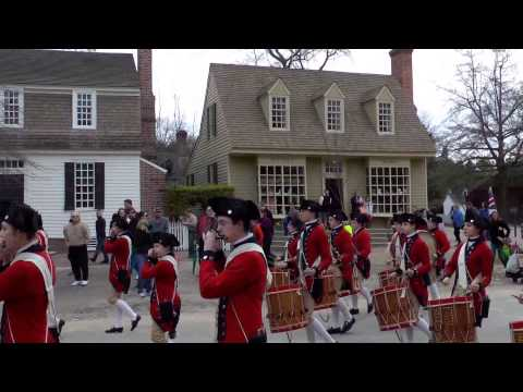 Colonial Williamsburg Fifes and Drums. York Marsch with Drum Intro.