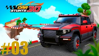 GAMEPLAY CAR STUNTS  3D ANDROID FORD MUSTANG STAGE BONUS, STAGE 21,22,23,24 #03