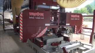 Horizontal Band Saw Mill Wravor Cutting Line Wnc 1250 Ac Fastest Biggest