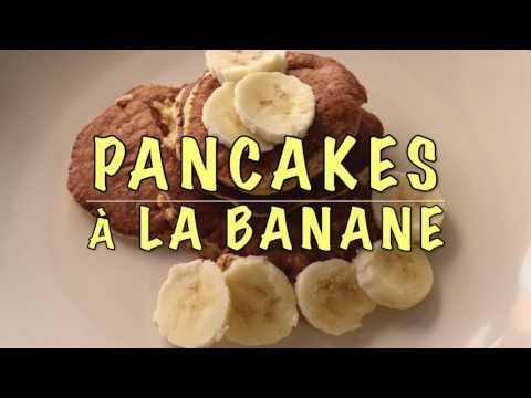 pancakes-À-la-banane-  -recette-légère-et-rapide