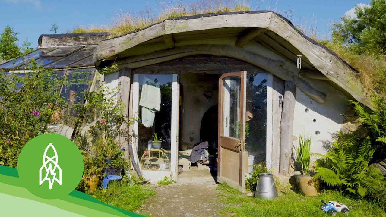 Enter the hobbit hamlet of diy eco homes youtube for Ecological home