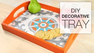 DIY Fabric Decorative Tray Tutorial