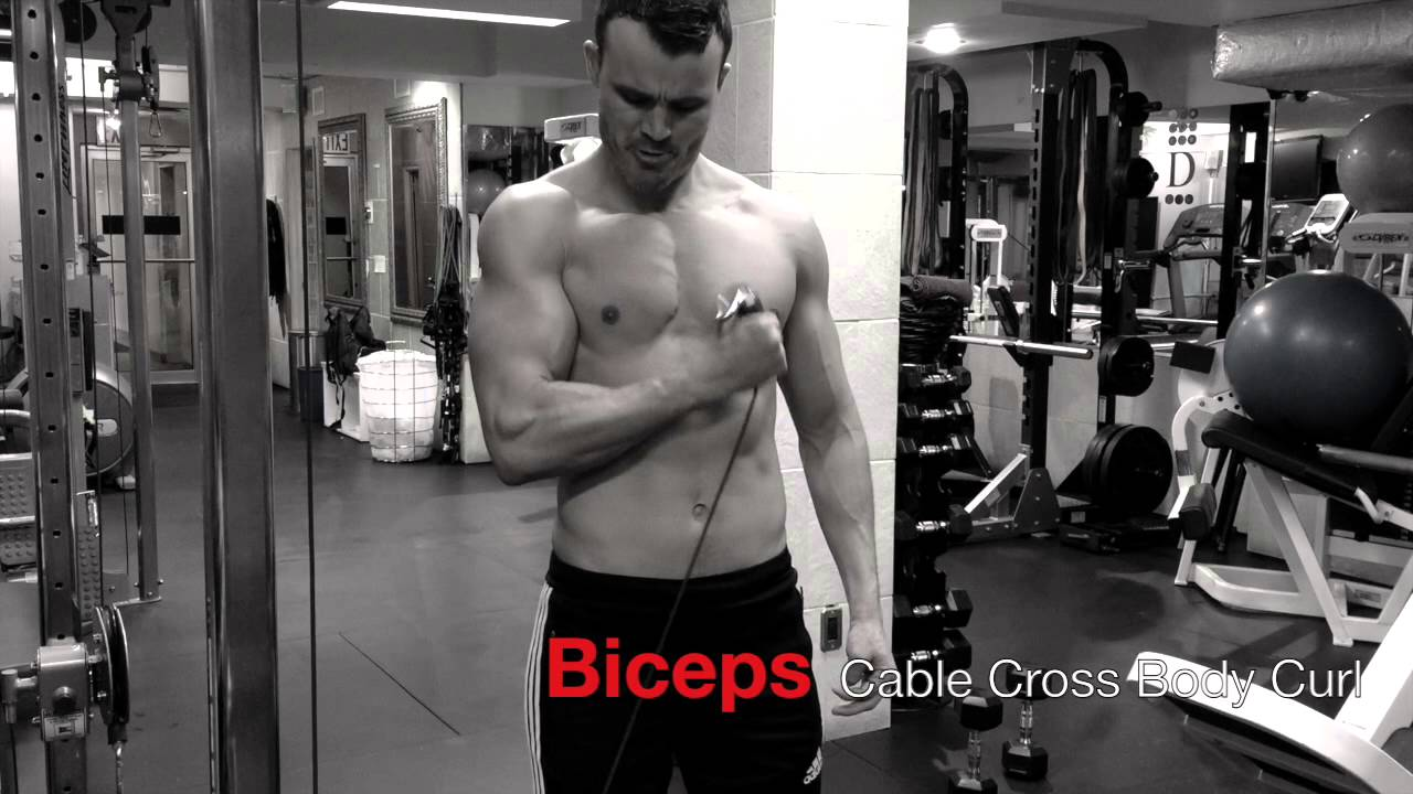 Cable Biceps Cross Body Curl