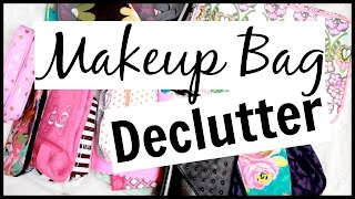 Makeup Collection + Declutter! // Bags and Pouches!